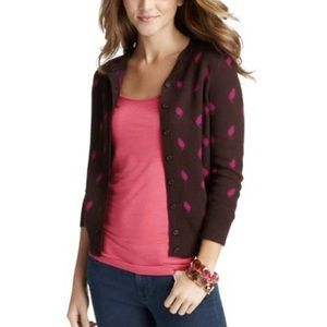 LOFT We're Smitten Cat Lovers Cardigan